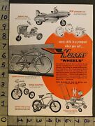 1954pedal Car Space Jet Tractor Bicycle Velocipede Baby Walker Murray Toy Adtm57