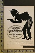 1953 Toy Ad Western Cowboy Holster Pistol Set Carnell Mfg Ny Leather Boots Ta30