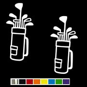 2 Golf Clubs And Golf Bag Vinyl Decal Set Custom Size Color For Carstruck
