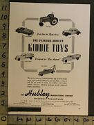 1949 Toy Ad Vehicle Tractor Taxi Convertible Truck Kiddie Hubley Lancaster Tk72