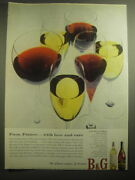 1959 Bandg Barton And Gustier Wine Ad - From France.. With Love And Care