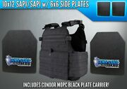 Ar500 Level 3 Iii Body Armor Plates - 10x12 W/ Side Plates And Condor Mopc Carrier