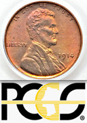 1914 Pcgs Pr65 Rd Mintage 1365 Rare Key Red Lincoln Wheat Cent █ Matte Proof 1c