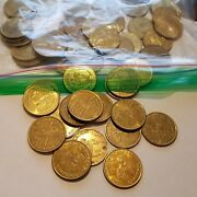 Carousel Token Lot Of 50 Brass Tokens - The House On The Rock  0.984