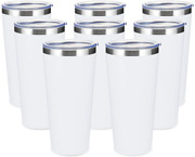 Coktik 30oz Tumbler 8 Pack Stainless Steel Travel Coffee Mug With Lids Double Wa