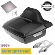 Midnight Pearl King Tour Pack Backrest Pad Fits 97+ Harley Touring By Advanblack
