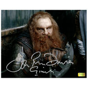 John Rhys-davies Autographed Lord Of The Rings Two Towers Gimli Axe 8x10 Photo