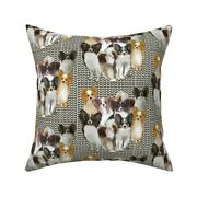 Papillon Collection Puppy Pet Throw Pillow Cover W Optional Insert By Roostery