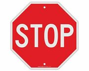 Stop Sign Street Slow Warning Reflective Signs 12 X 12 Inches Octagon.040 R...