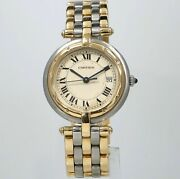 Panthere Vendome 30mm 3-row 18k And Stainless Steel Mid-size Swiss Watch