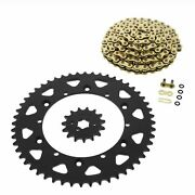 Cz Orhg Gold X Ring Chain And Sprocket 15/52 120l 1987-1998 Yamaha Yz250