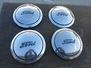 Set Of Four 1940's Ford 3/4, 1 Ton Truck Hub Caps, Nos
