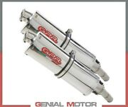 2 Exhaust Mufflers Gpr Trioval Approved Ducati St2 1997 2003