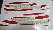 Xr750 Tank Decals Red And White W/ Gold Harley-davidson Xr Xr-750 Jump Daredevil