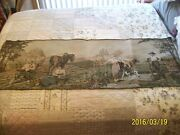Tapestry Wall Hanging Antique Machine Woven Dutch Farm Couples 5'5 X 1'9