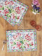Tulip Dance Placemat / Table Runner / Napkin / Tea Towels By April Cornell