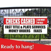 Check Cashing Banner Vinyl / Mesh Banner Sign Flag Pawn Shop Check Cashing Store