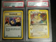 1st Edition Holo Dark Raichu And Here Comes Team Rocket Psa 9 And 10