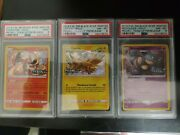 Pokemon Charizard Nidoqueen And Zapdos Team Up Prerelease Psa 8 And 9