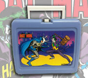 Vintage 1982 Batman Vs The Joker Plastic Thermos Lunchbox And Drink Cup Variant