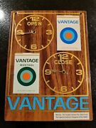 Nice Vtg Vantage Cigarette Open Close Store Sign Thank You Call Again 9½ X 7