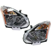Hid Headlights Lamps Set Of 2 Left-and-right Hid/xenon Lh And Rh For Rogue 08 Pair