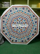 36and039and039 Marble Dining Table Top Multi Floral Marquetry Inlay Garden Decors H3214