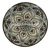 36 Marble Dining Table Top Multi Marquetry Floral Inlay Outdoor Home Decor B039