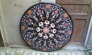 36 Marble Coffee Table Top Marquetry Inlay Ornate Outdoor Decors H1976