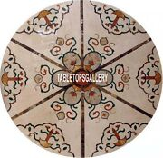 36and039and039 Marble Round Dining Table Top Mossaic Inlay Dining Room Decor Gifts H3999b
