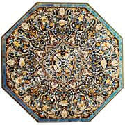 4and039 Marble Dining Table Top Marquetry Stone Inlay Home Decorative Furniture E601