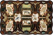 4and039x3and039 Marble Beautiful Dining Table Top Mosaic Birds Inlay Art Living Decor B689