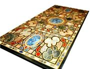 4and039x3and039marble Top Dining Table Pietra Dura Mosaic Inlay Furniture Decorative B657