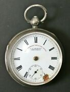 As-is Jg Graves Sheffield The Express English Lever Sterling Silver Pocket Watch