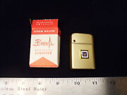 Nos 1960's Gm Mark Of Excellence Bowers Gold Aluminum Cigarette Lighter Chevy