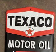 Texaco Motor Oil Wall Thermometer Embossed Metal Officially Licensed By Chevron