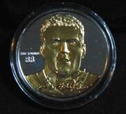Eric Lindros Flyers 999 Silver Round W/ 24 Kt Gold Highland Mint Coin 1/1000