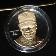 Frank Thomas White Sox 999 Silver W/ 24kt Gold Round Highland Mint Coin 1/1500