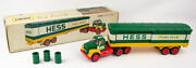 Mint Vintage 1975 Hess Box Trailer With Oil Barrels And Original Box
