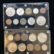 Us Mint 1957 Pandd Uncirculated 90 Silver Double Mint Set, 20 Coins Total