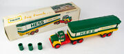 Vintage 1975 Hess Box Trailer With Oil Barrels And Original Box