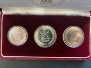 1982 South Korea Seoul Silver Three Coin Proof Olympics Coin Set 1.5ozt Total