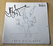 Jeff Lynne Signed Free As A Bird 7 Inch Vinyl Record The Beatles Proof