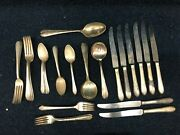 Rogers And Bros International Silver Plate Silverware Set 44 Pcs