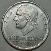 Germany 1929-d Lessing, 5 Reichmark G604