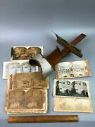 Antique 1897 Stereoscope Viewer With Stereoview Cards Americana