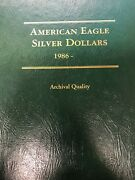 1986-2021 Uncirculated American Eagle Silver Dollar Collection Littleton Album