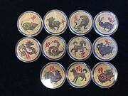 Chinese Lunar New Year Collection 11 24k Gold Layered .999 Fine Silver Rounds