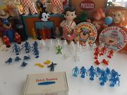 Vintage Space Men Astronauts And Aliens Plastic Figures1960and039s Marx Mpc