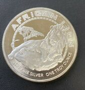 2017 Niue 2 African Lion 1ozt .999 Silver Uncirculated Round Bullion Coin